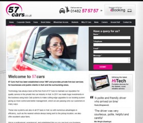 57 Cars (57 Taxis) Website Design Hull by Weborchard, Yorkshire