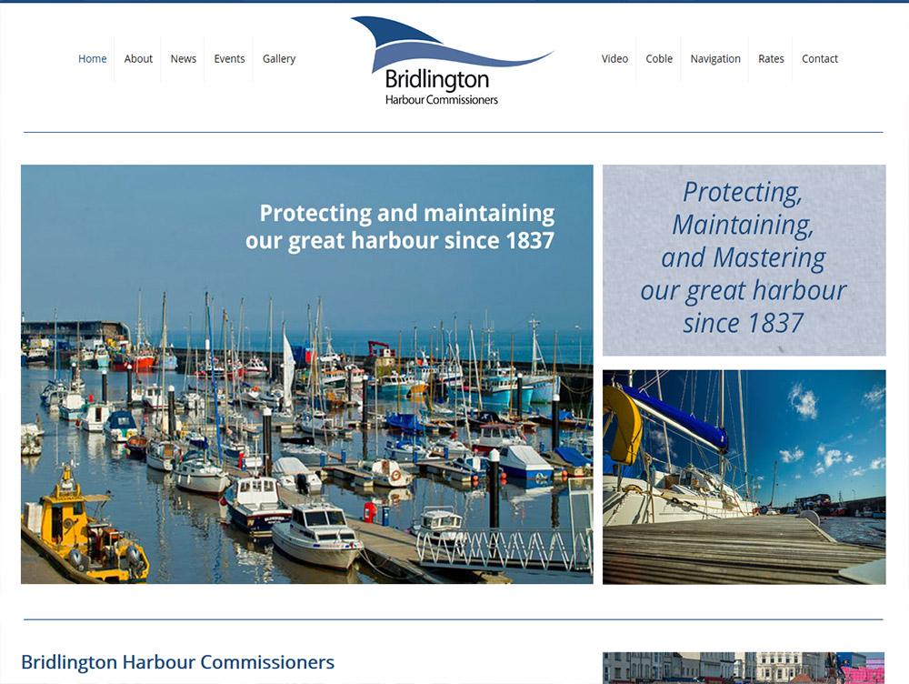 Website Design Beverley Website Design Hull by Weborcahrd Yorkshire Bridlington Harbour Commissioners