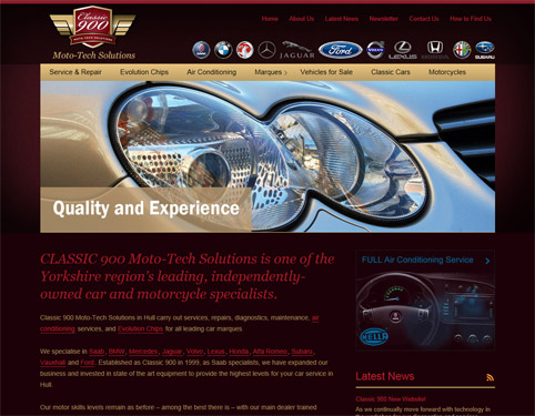 Classic 900 Moto Tech Solutions - Website Design by Weborchard, Hull, Yorkshire