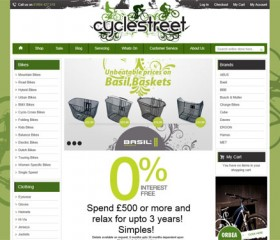 CycleStreet - Responsive Ecommerce Website Design Hull, Yorkshire, available from Weborchard