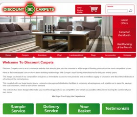 DC Carpets Ecommerce Website Design Hull by Weborchard, Yorkshire