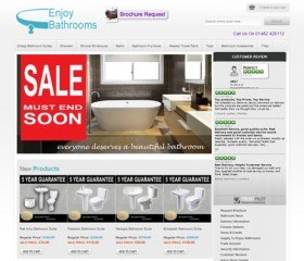 Enjoy Bathrooms Ecommerce Website Design | Weborchard, Hull, Yorkshire