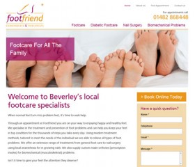 Footfriend Website Design Hull by Weborchard