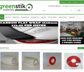 Greenstik Materials - Responsive Ecommerce Website Design Hull, Yorkshire by Weborchard