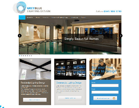 Greyblue Lighting Website Design | Weborchard, Hull, Yorkshire