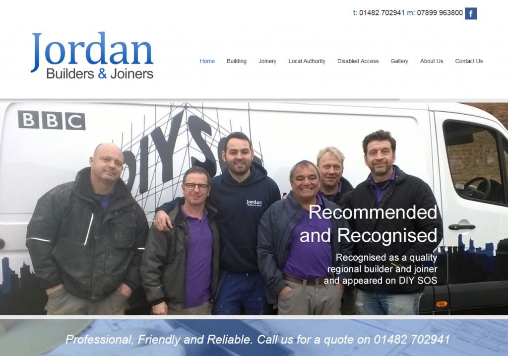 Website Design Hull Weborchard - Jordan Builders Joiners