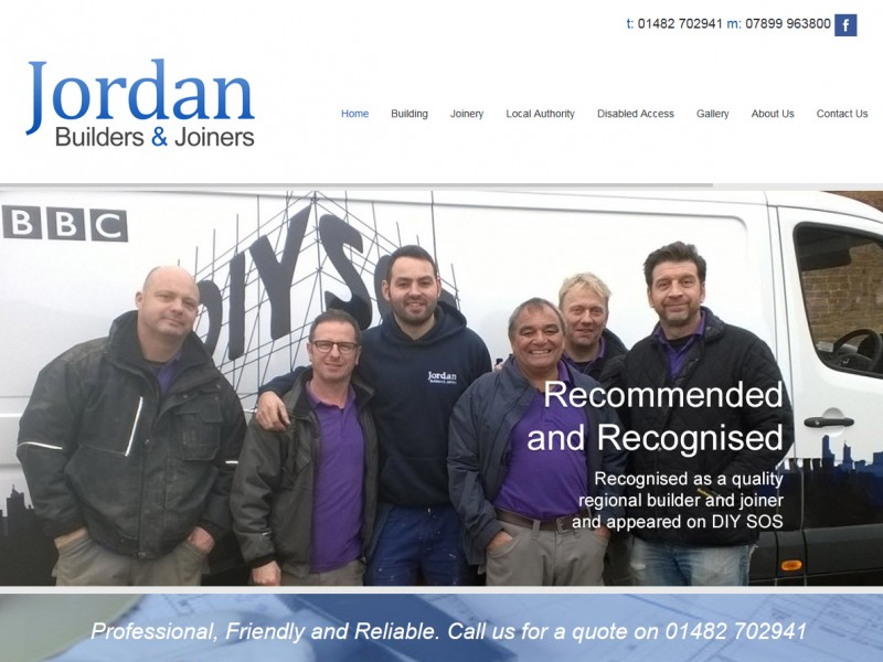 Website Design Hull, Responsive Web Design Hull, Yorkshire by Weborchard - Jordan Builders and Joiners website