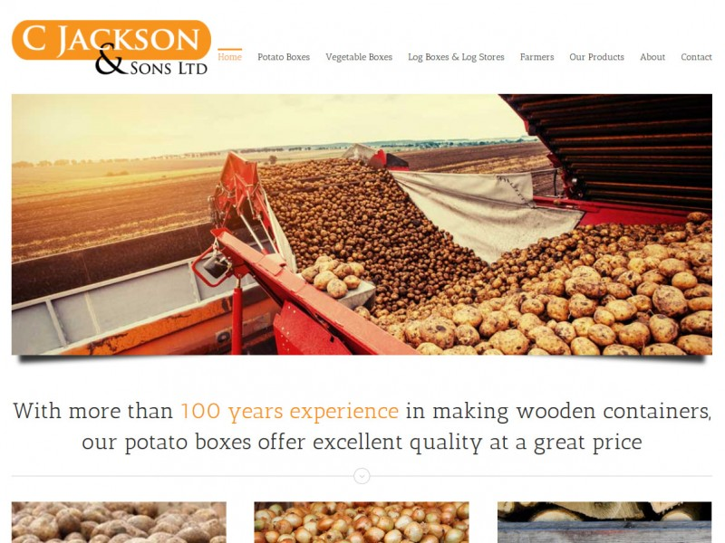 Website Design Hull Beverley East Yorkshire by Weborchard - C Jackson and Sons Potato Box Website