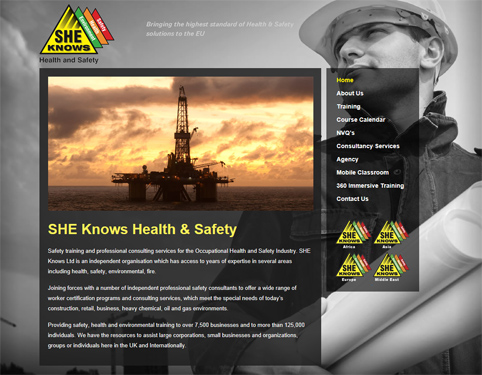 SHE Knows Helath and Safety - Website Design Hull by Weborchard