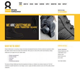 Website Design Hull, East Yorkshire - Simply Safetywear Website