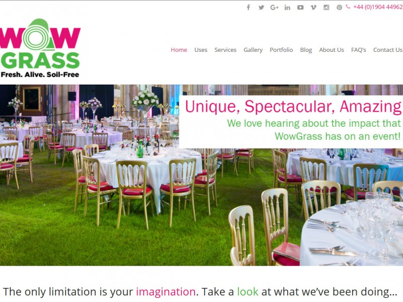Website Design Hull by Weborchard - Wow Grass Responsive Website Design Beverley Yorkshire