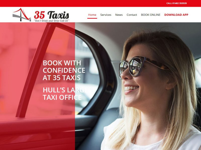 35 Taxis Hull - Website Design Beverley by Weborchard
