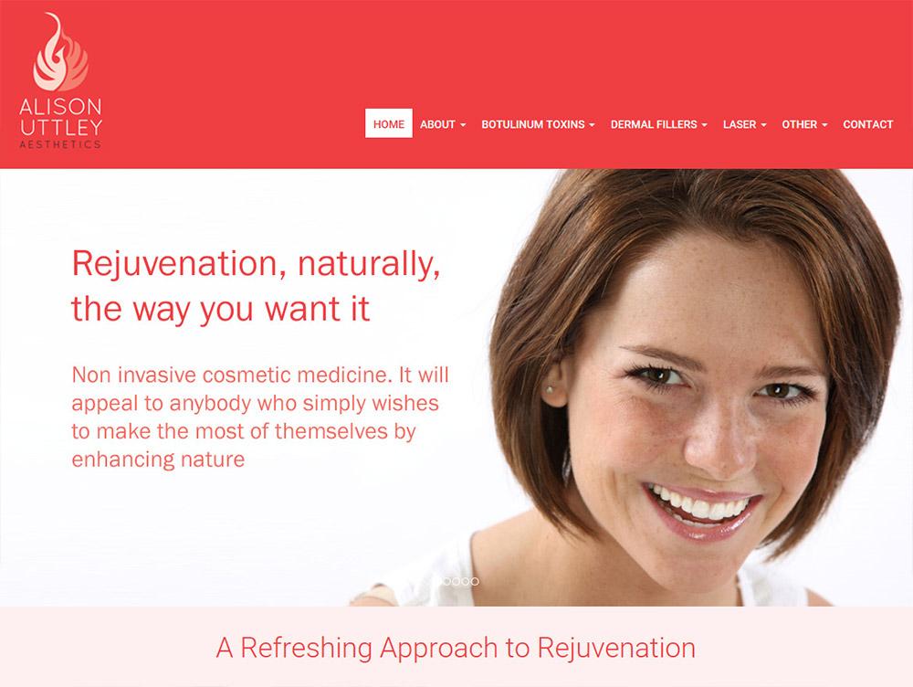 Website Design Hull Beverley East Yorkshire by Weborchard Responsive ARC Aesthetics Dr Alison Uttley
