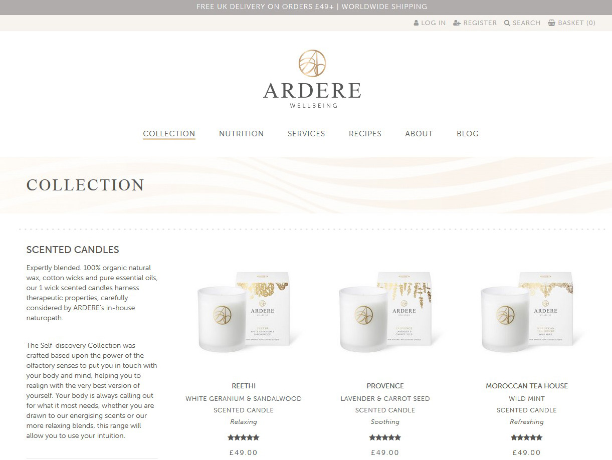 Ecommerce Website Design Beverley Hull by Weborchard - Ardere Wellbeing London