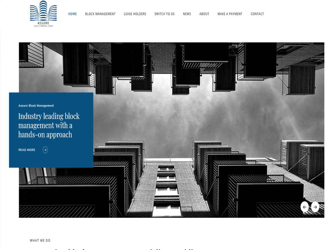 Assure Building Management London - Website Design by Weborchard Beverley East Yorkshire