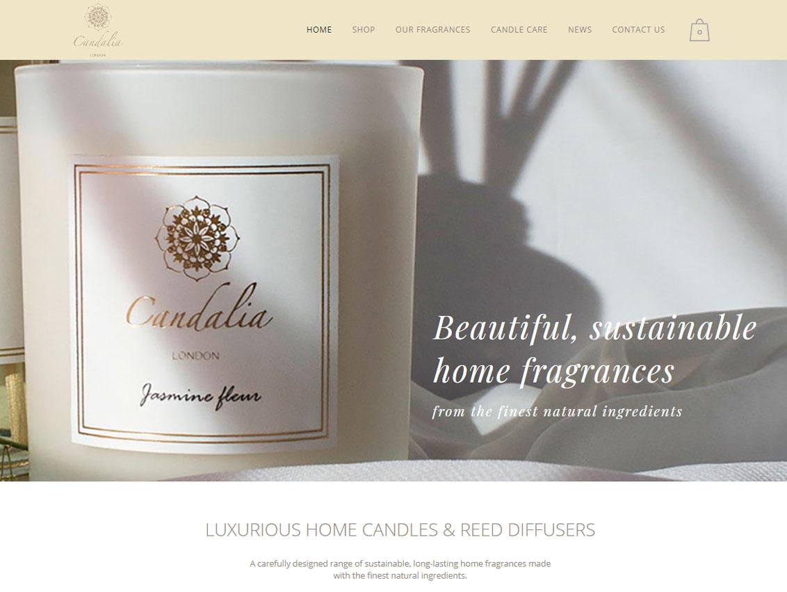 Candalia London - Website Design Beverley Hull by Weborchard East Yorkshire