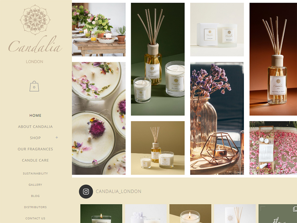 Candalia London website design by Weborchard - Web design Beverley East Yorkshire