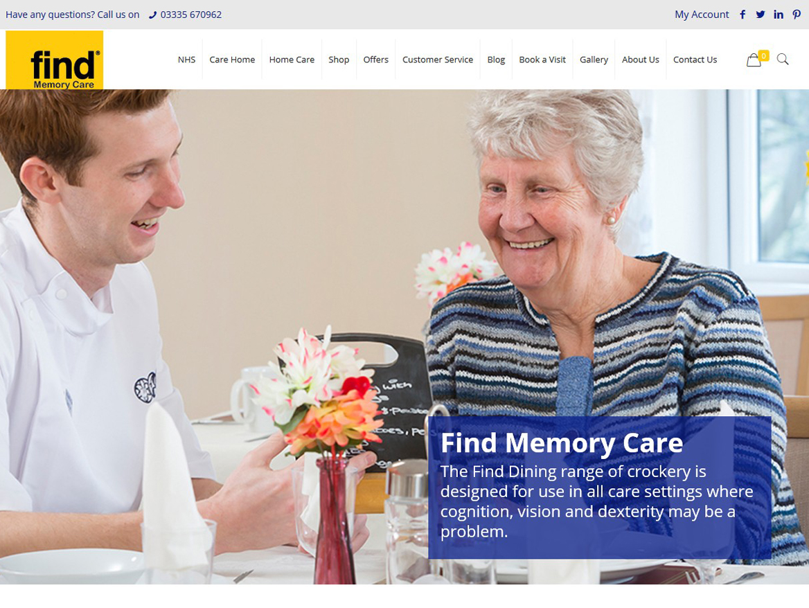 Ecommerce Website Design for Find Memory Care by Weborchard Beverley