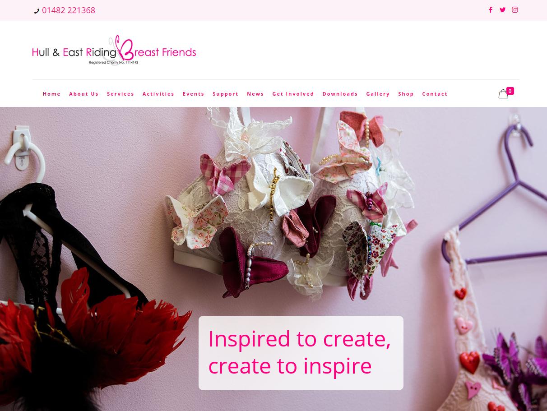 Her Breast Friends Charity Website Design by Weborchard Beverley