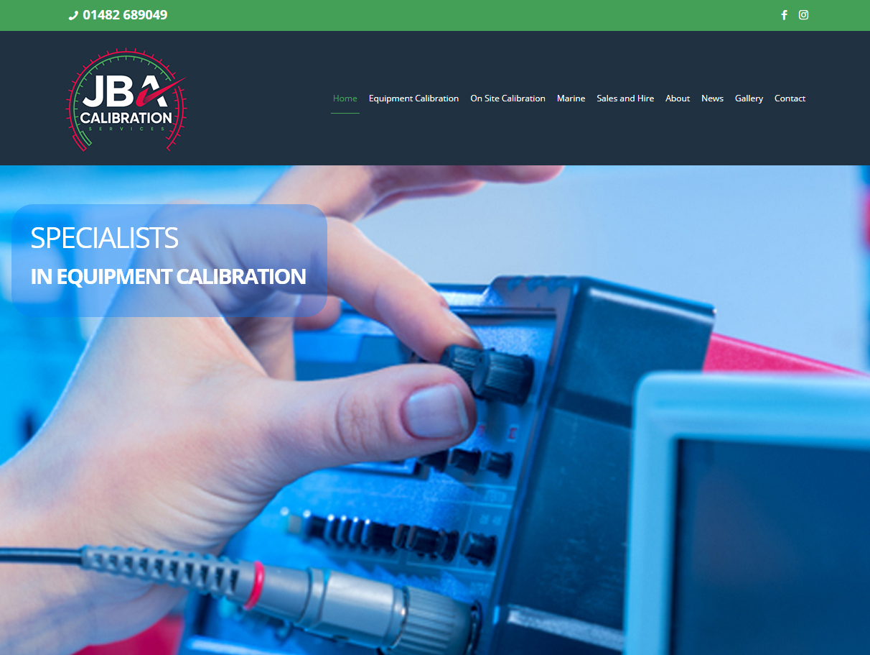 Weborchard Website Design Beverley for JBA Calibration Hull