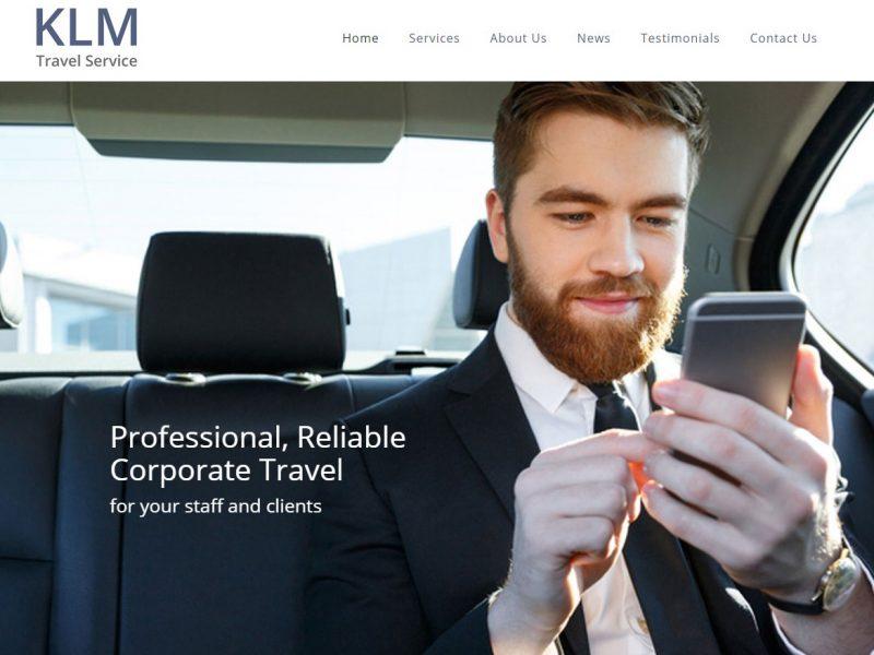 KLM Travel Service Hull - Website Design by Weborchard Beverley East Yorkshire