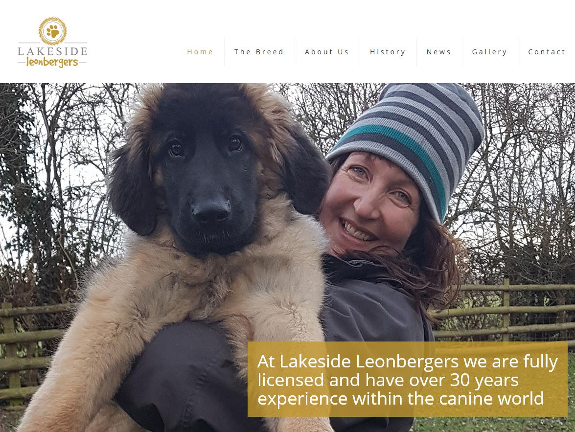 Website Design Beverley -Lakeside Leonberger Website by Weborchard Hull East Yorkshire