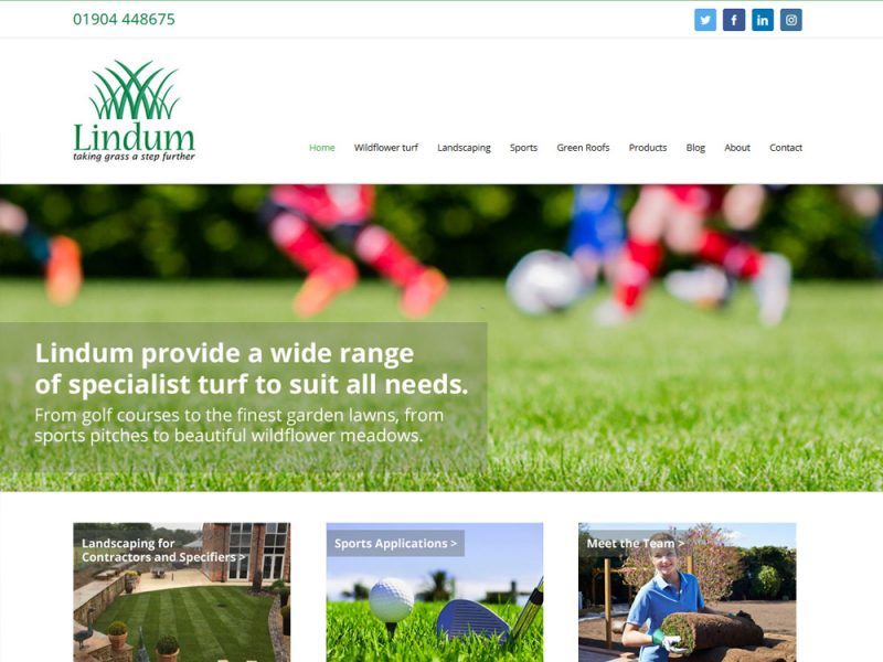 Weborchard Lindum Turf Website Design Beverley Website Design Hull