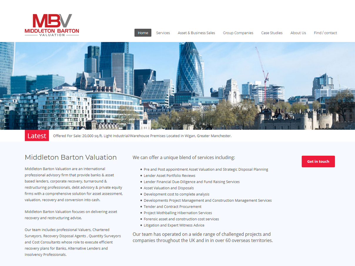 Weborchard Website Design Beverley forMB Valuation Responsive Website
