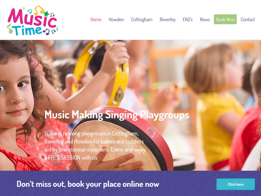 Website Design Hull Website Design Beverley Music Time by Weborchard