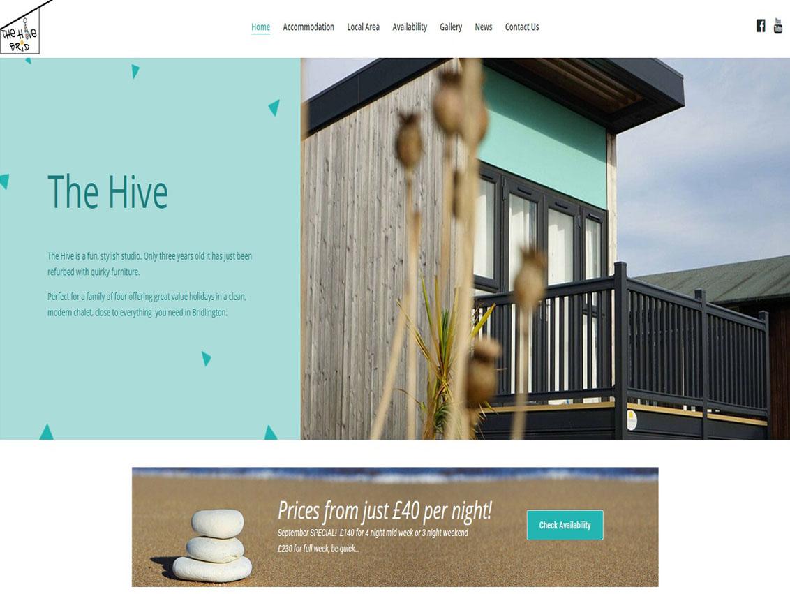 Website Design Beverley by Weborchard for The Hive Bridlington East Yorkshire