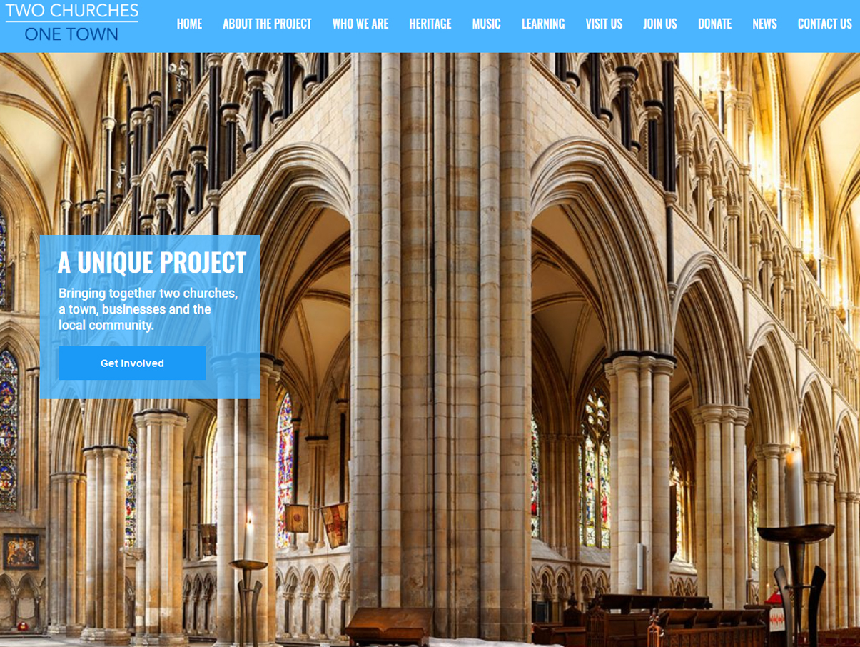 Two Churches One Town Website Design by Weborcahrd, Beverley, East Yorkshire