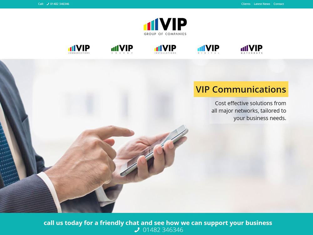 Website Design in Beverley by Weborchard - VIP Group - Website Design Hull