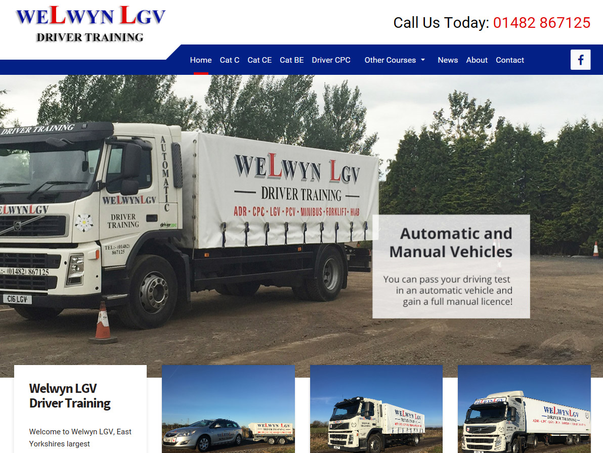 Website Design Beverley Website Design Hull by Weborcahrd Yorkshire Welwyn LGV Driver Training