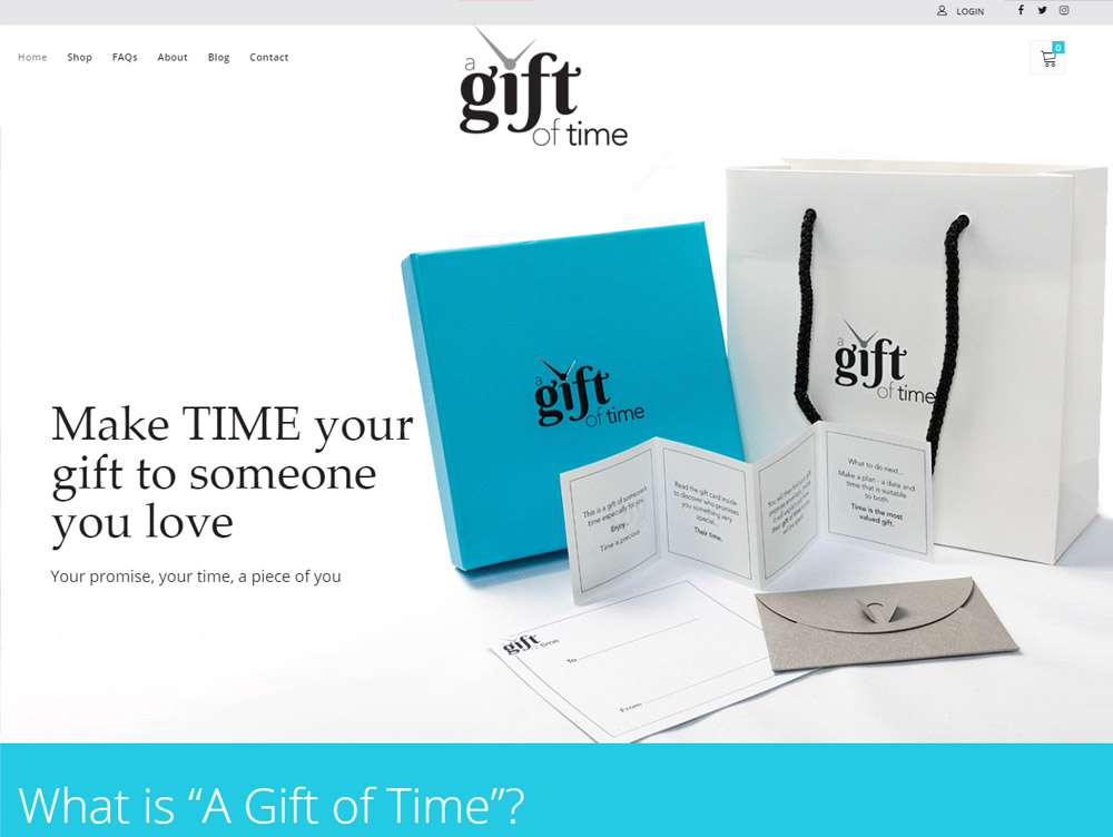A Gift of Time Unique Gifts - Website Design Beverley by Weborchard East Yorkshire