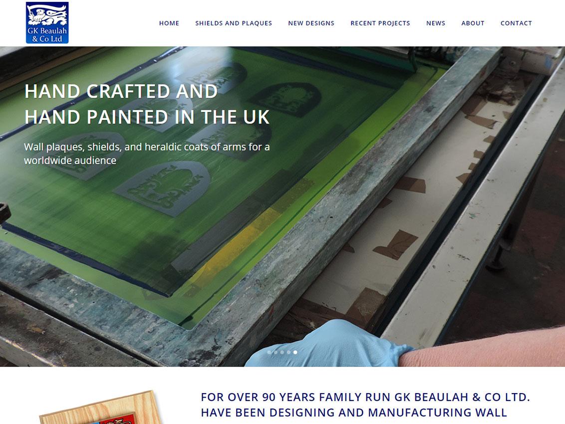 Website Design Hull and Website Design Beverley by Weborchard for GK Beaulah Hull