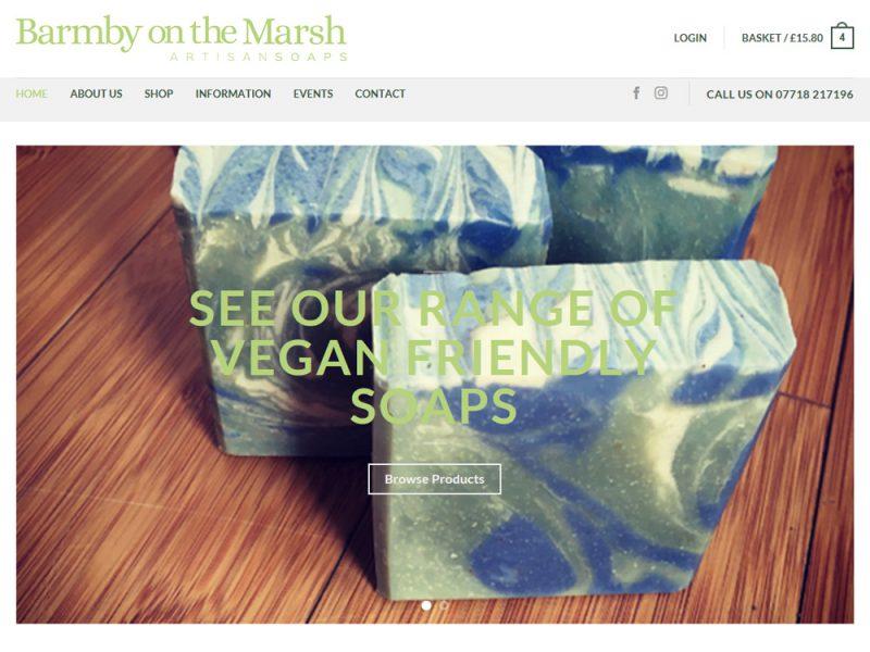 Website Design Hull Website Design Beverley - Weborchard - Barmby on the Marsh Soaps