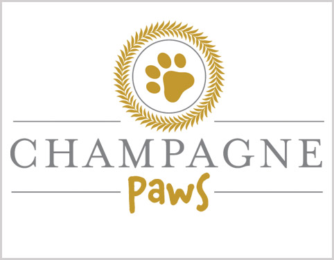 Champagne Paws Logo Design and Branding in Beverley by Weborchard
