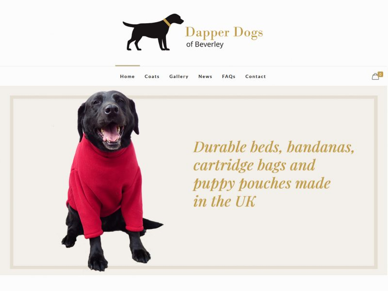 Ecommerce Website Design - Dapper Dogs of Beverley by Weborchard East Yorkshire