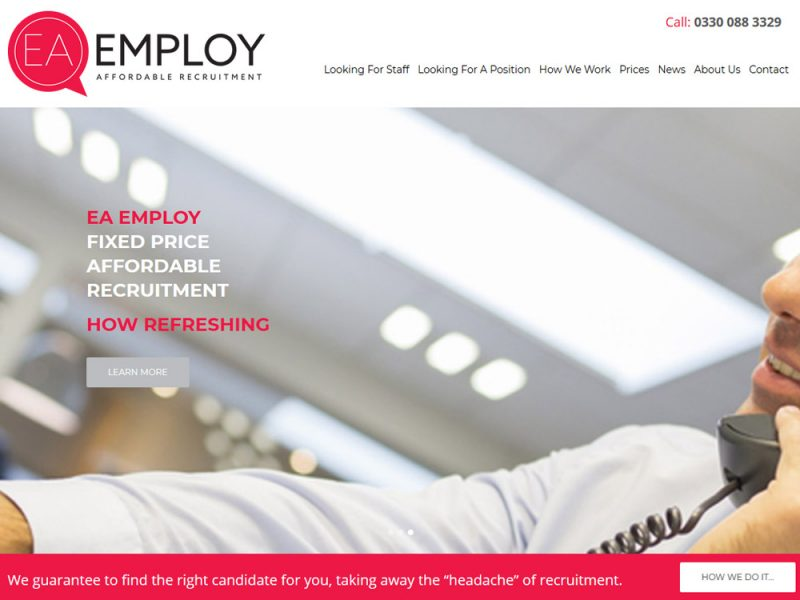 EA Employ Hull - Website Design by Weborchard Beverley East Yoskrhire
