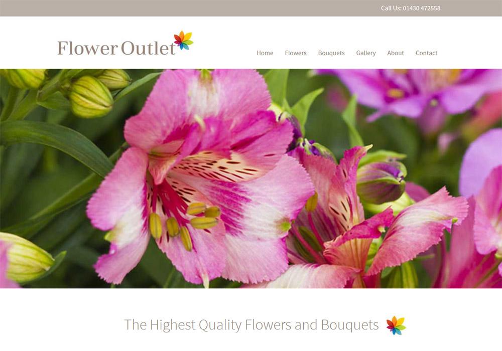 Responsive Website Design Hull, Yorkshire, Weborchard - Flower Outlet Website