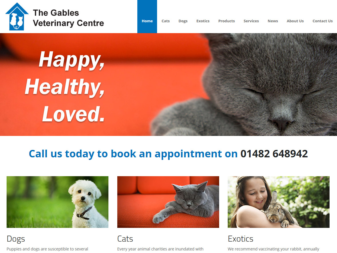 Website Design Beverley Website Design Hull by Weborcahrd Yorkshire Gables Vets