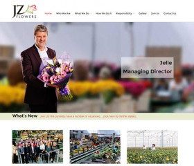 Responsive Website Design Hull Weborchard - JZ Flowers, Dutch Flower Group