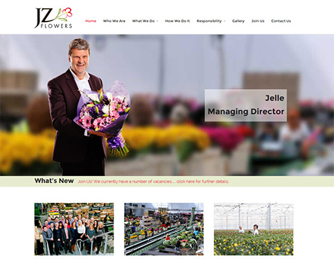 Responsive Website Design Hull Weborchard - JZ Flowers, Dutch Flower Group