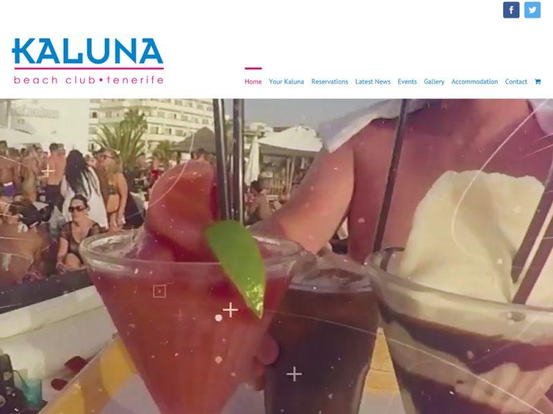 Website Design Beverley Website Design Hull by weborchard for kaluna Beach Club Tenerife