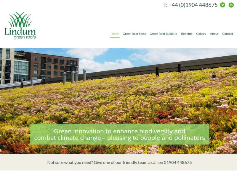 Web Design Beverley, Websites by Weborchard East Yorkshire - Lindum Green Roofs