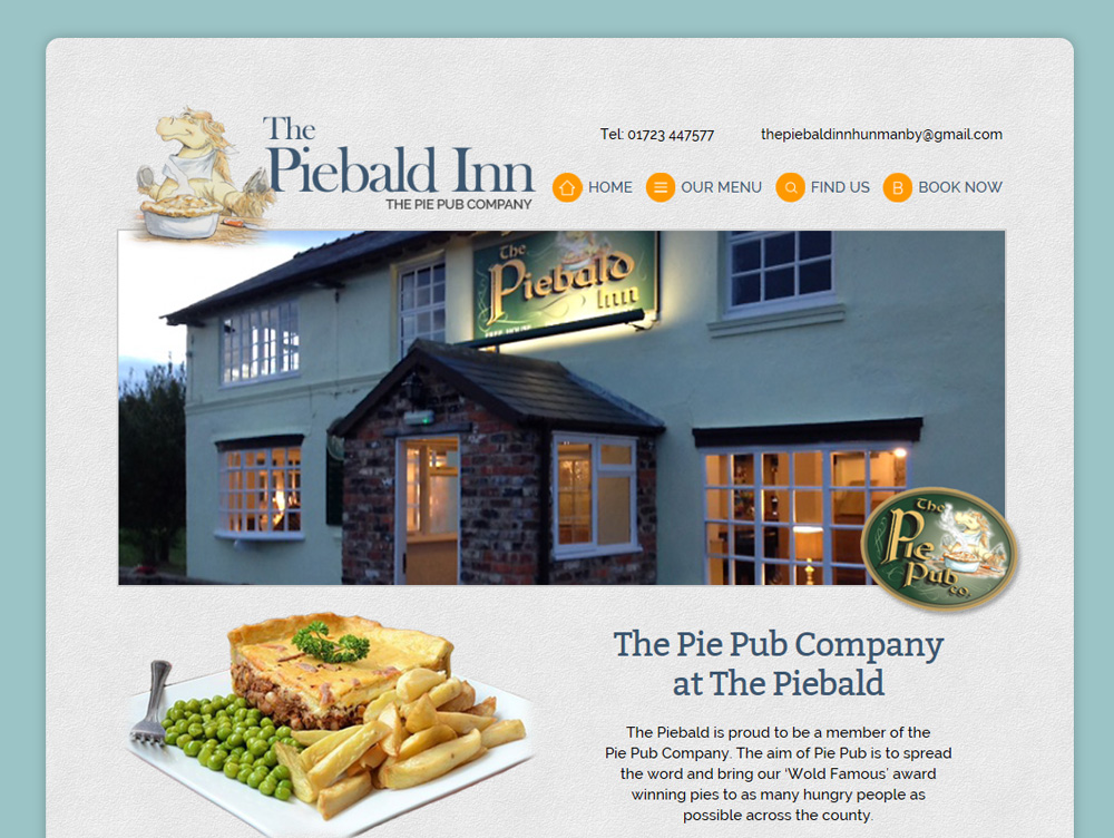 Web Design Beverley Web Design Hull by Weborchard East Yorkshire Piebald Inn