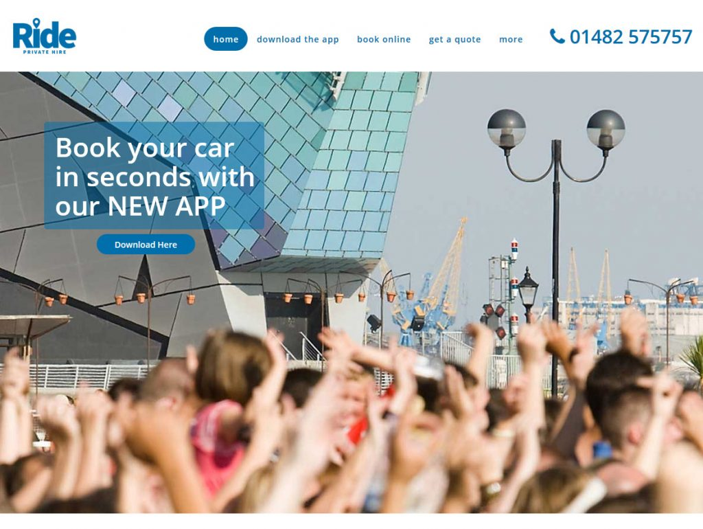 Beverley Web Design by Weborchard - Ride Cars (Taxi Hull) Website Design