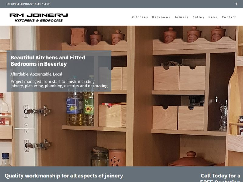 Website Design Beverley - RM Joinery Tickton by Weborchard