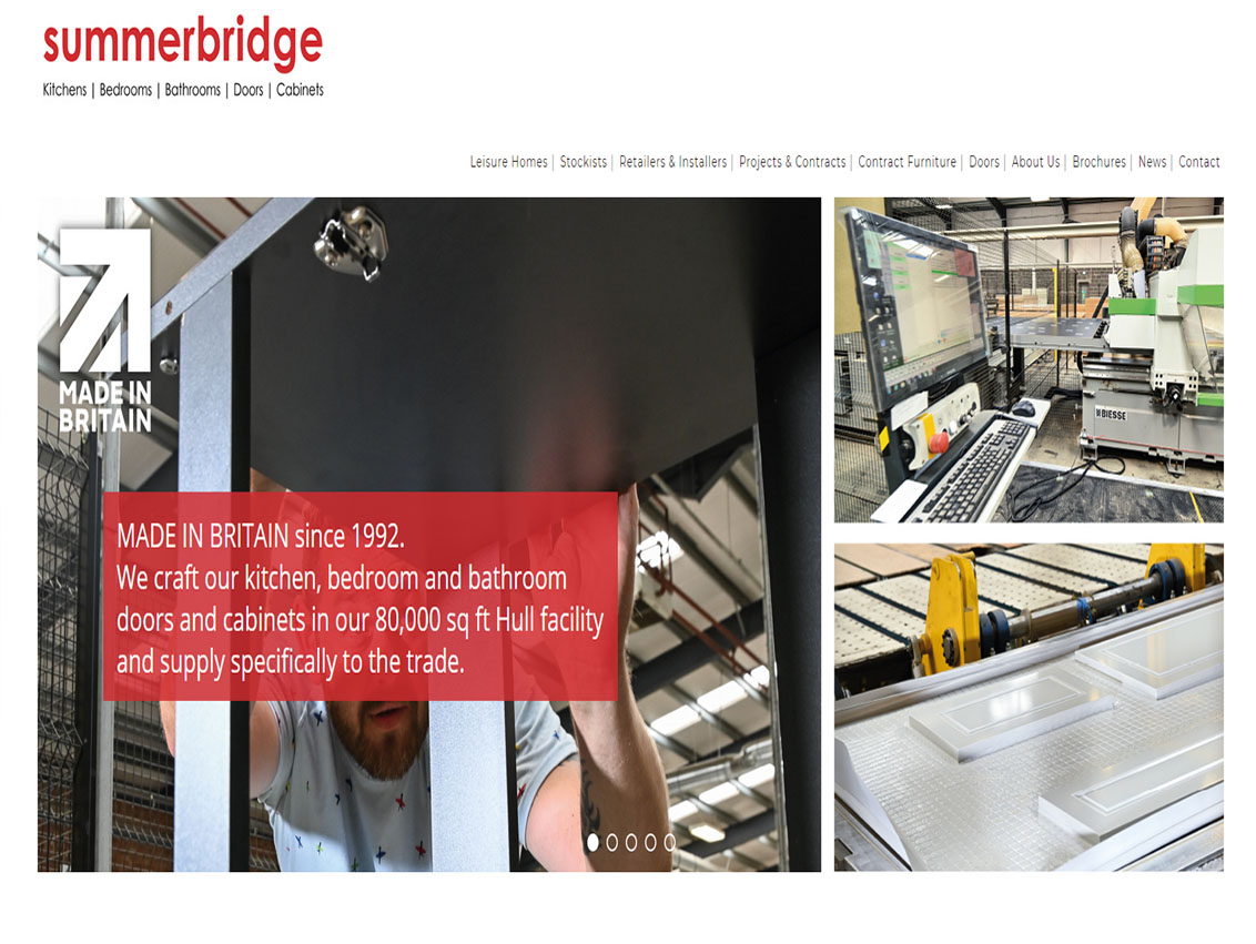 Website Designer Beverley - Weborchard responsive website design for Summerbridge